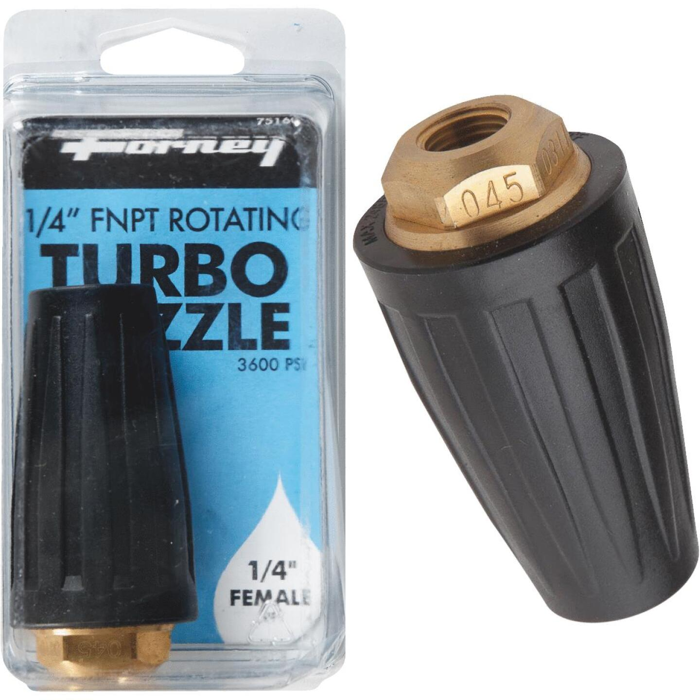 Forney 3600 psi Rotating Turbo Pressure Washer Nozzle Image 1