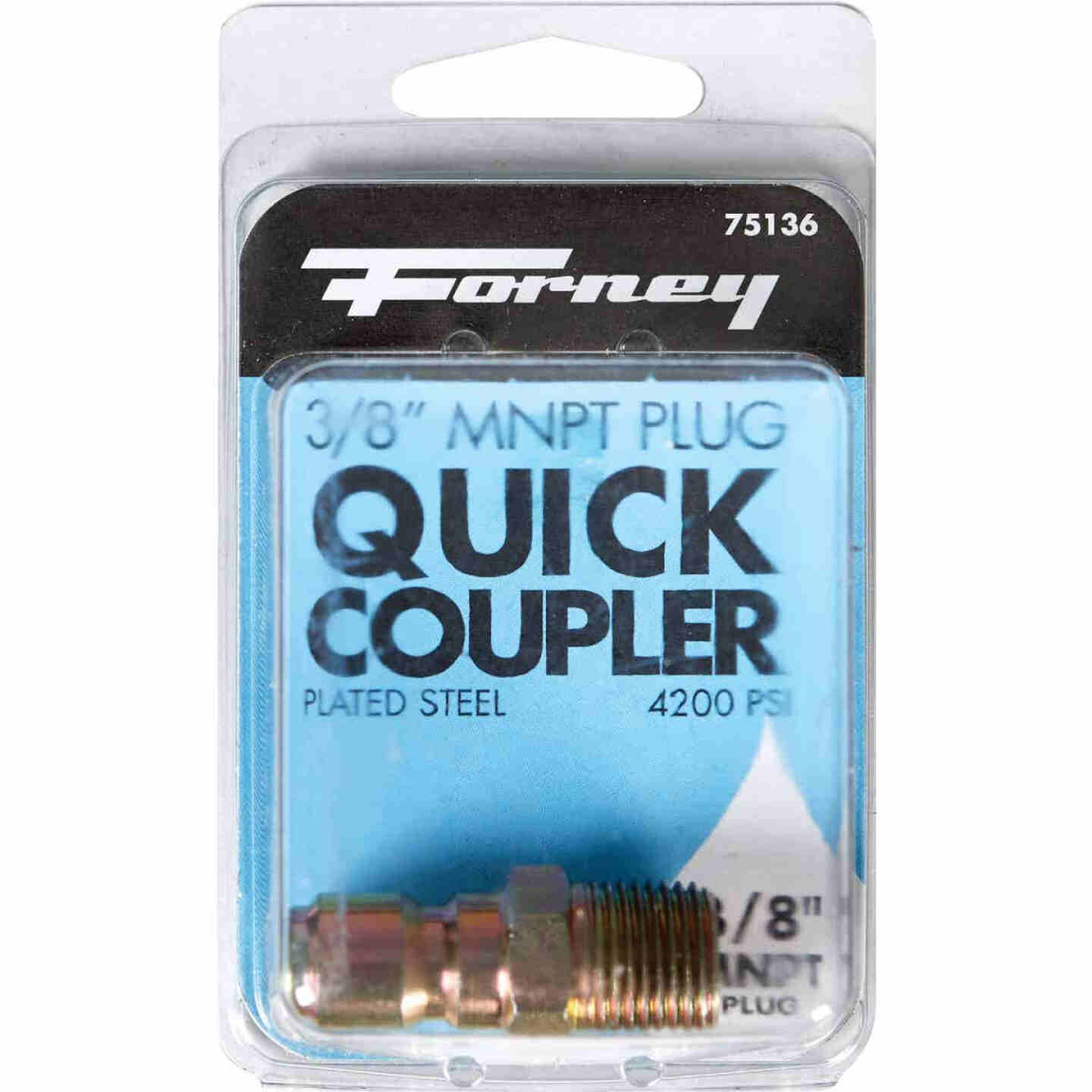 Forney 3/8 In. Male Quick Connect Pressure Washer Plug Image 2