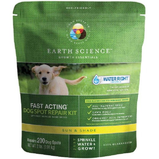 Earth Science 2Lb. Covers Up to 300 Dog Spots Sun & Shade Grass Patch & Repair