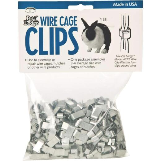 Pet Lodge J-Clip 1 Lb. Metal Wire Cage Clip