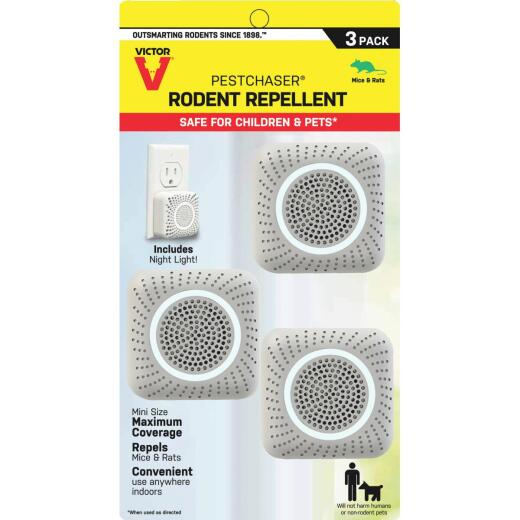 Victor Mini PestChaser Sonic 400 Sq. Ft. Coverage 110 VAC Electronic Pest Repellent (3-Pack)