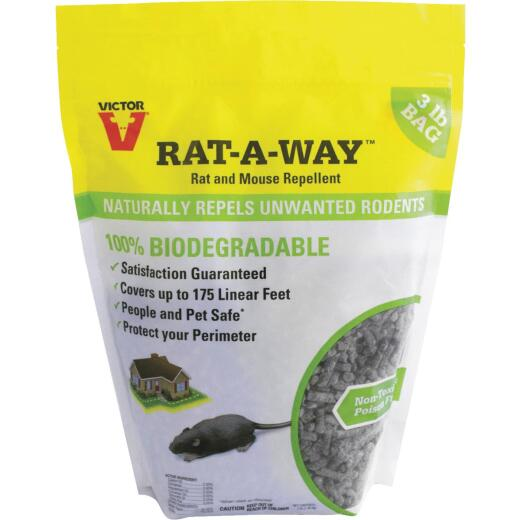 Victor Rat-A-Way 3 Lb. Granular Natural Rat & Mouse Repellent
