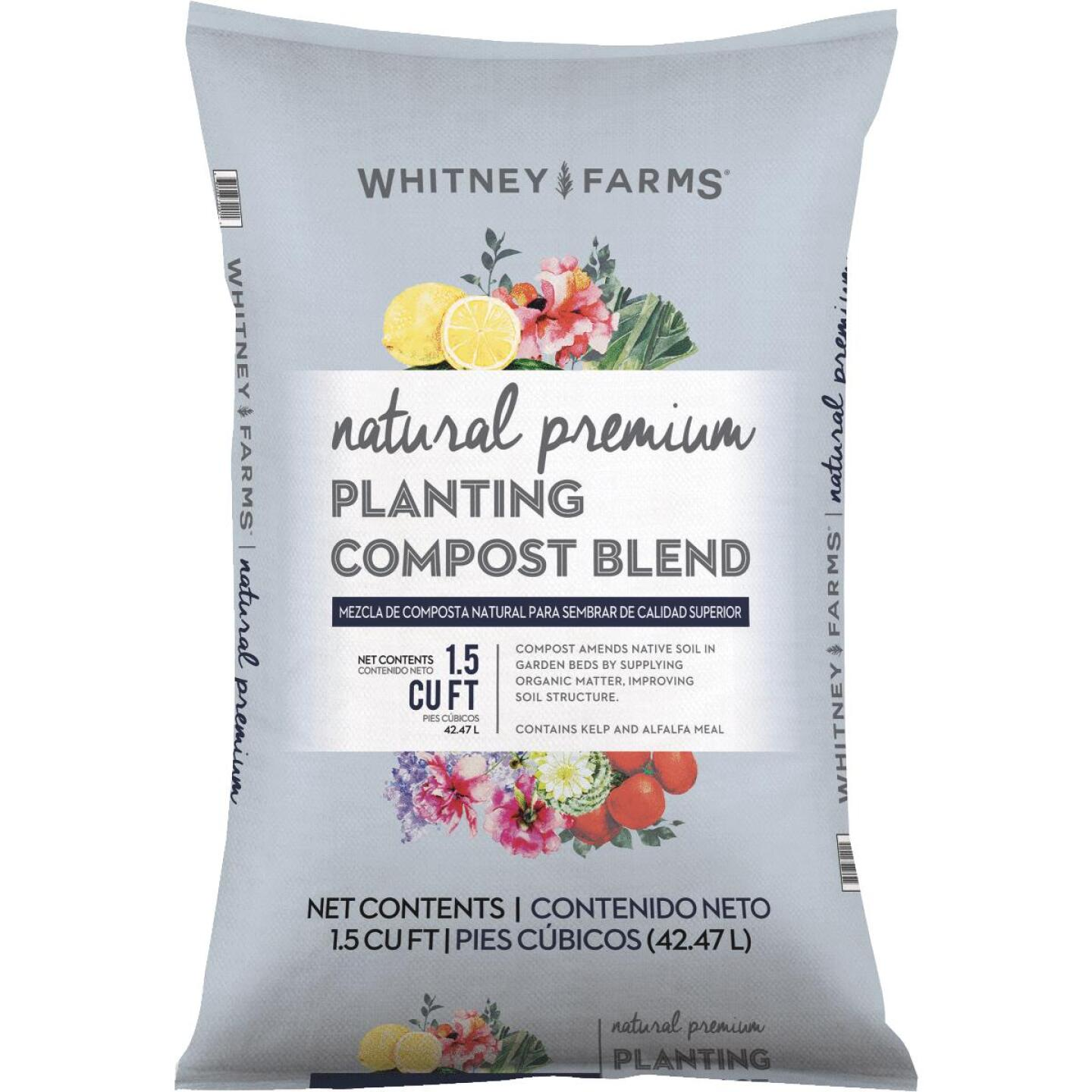 Whitney Farms Natural Premium 1.5 Cu. Ft. Lawn & Garden Compost Image 1