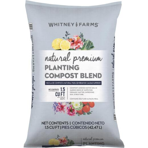 Whitney Farms Natural Premium 1.5 Cu. Ft. 31-1/2 Lb. Lawn & Garden Compost