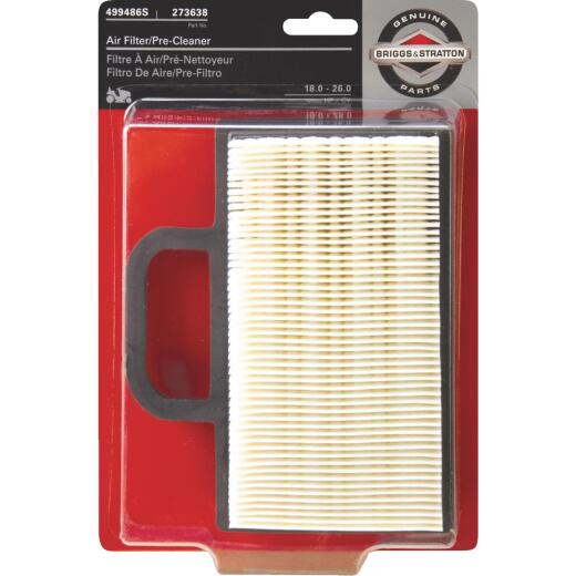 Briggs & Stratton 12 To 26 HP Paper Engine Air Filter with Pre-Cleaner