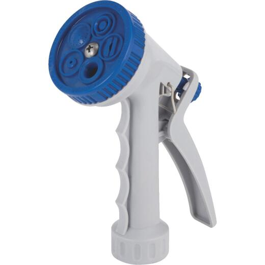 Best Garden Poly 5-Pattern Nozzle, Blue & Gray