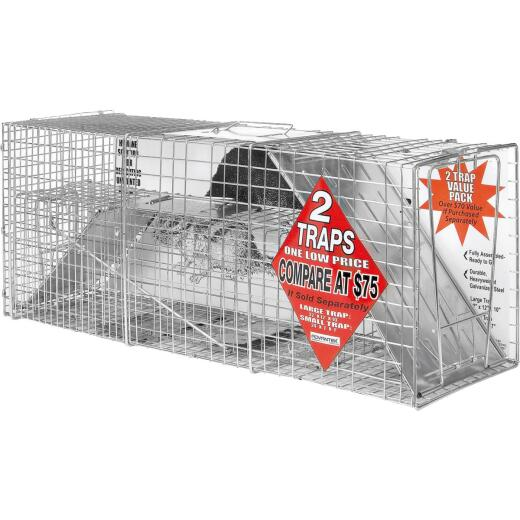 Advantek Galvanized 32 In. Catch & Release Animal Trap (2-Pack)