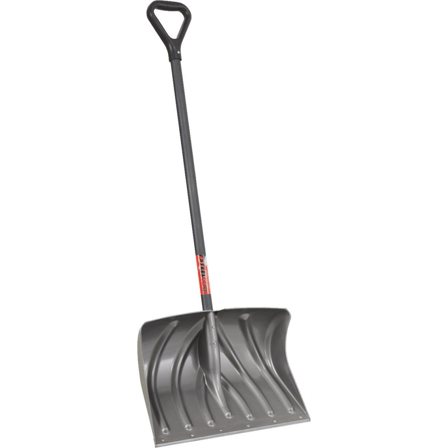 Suncast 20 In. Graphite Snow Shovel & Pusher with 38 In. Steel Handle Image 3