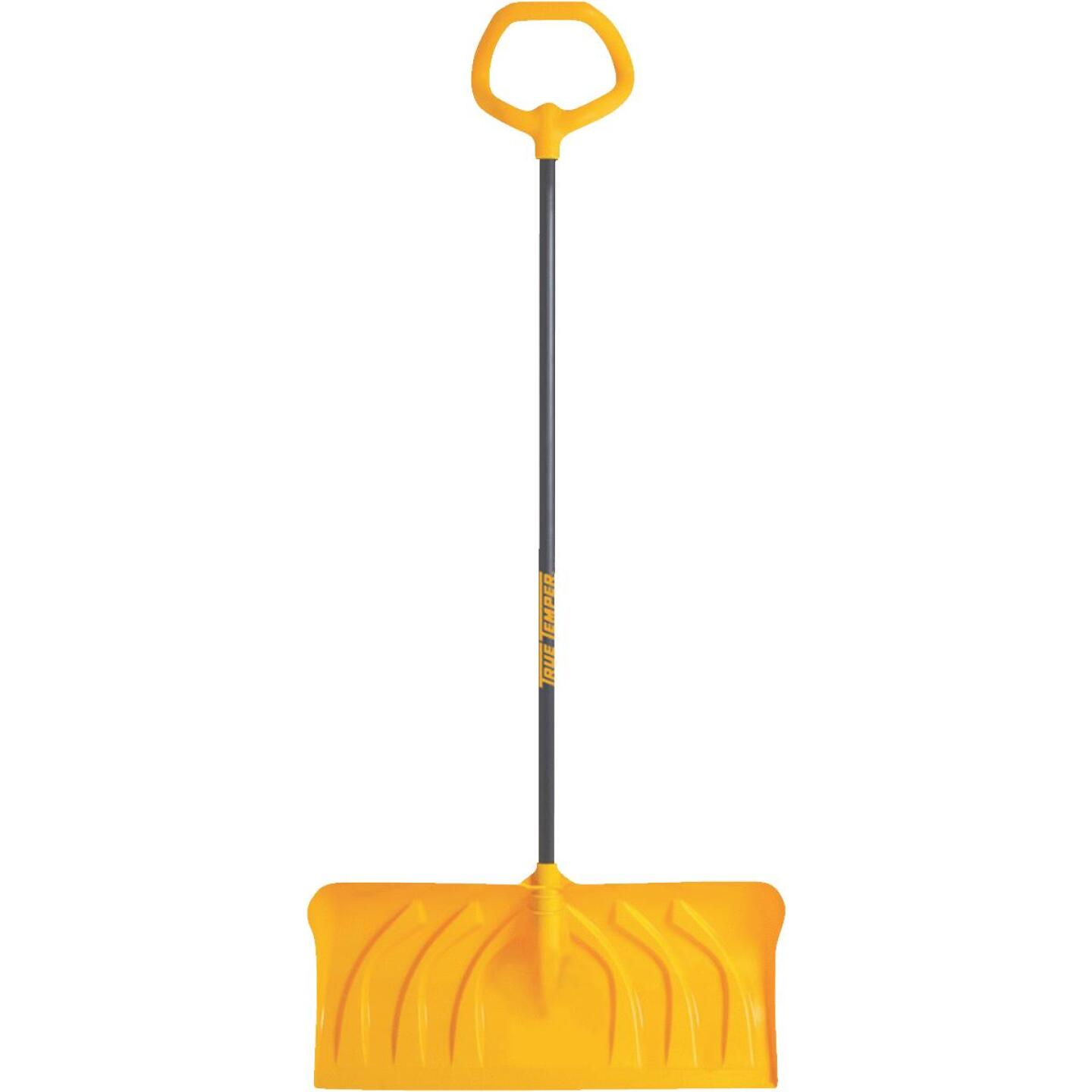 True Temper 24 In. Poly Snow Pusher with 40 In. Steel Handle Image 1
