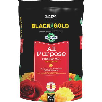 Black Gold 1.5 Cu. Ft. All Purpose Potting Soil