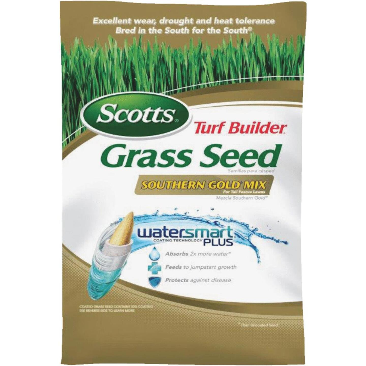 Scotts Turf Builder 3 Lb. Up To 750 Sq. Ft. Coverage Southern Gold Tall Fescue Grass Seed Image 1