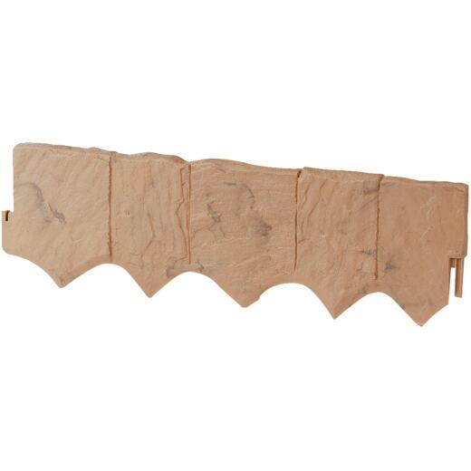 Suncast 6.5 In. H. x 24 In. L. Tan Flagstone Poly Lawn Edging (5-Pack)