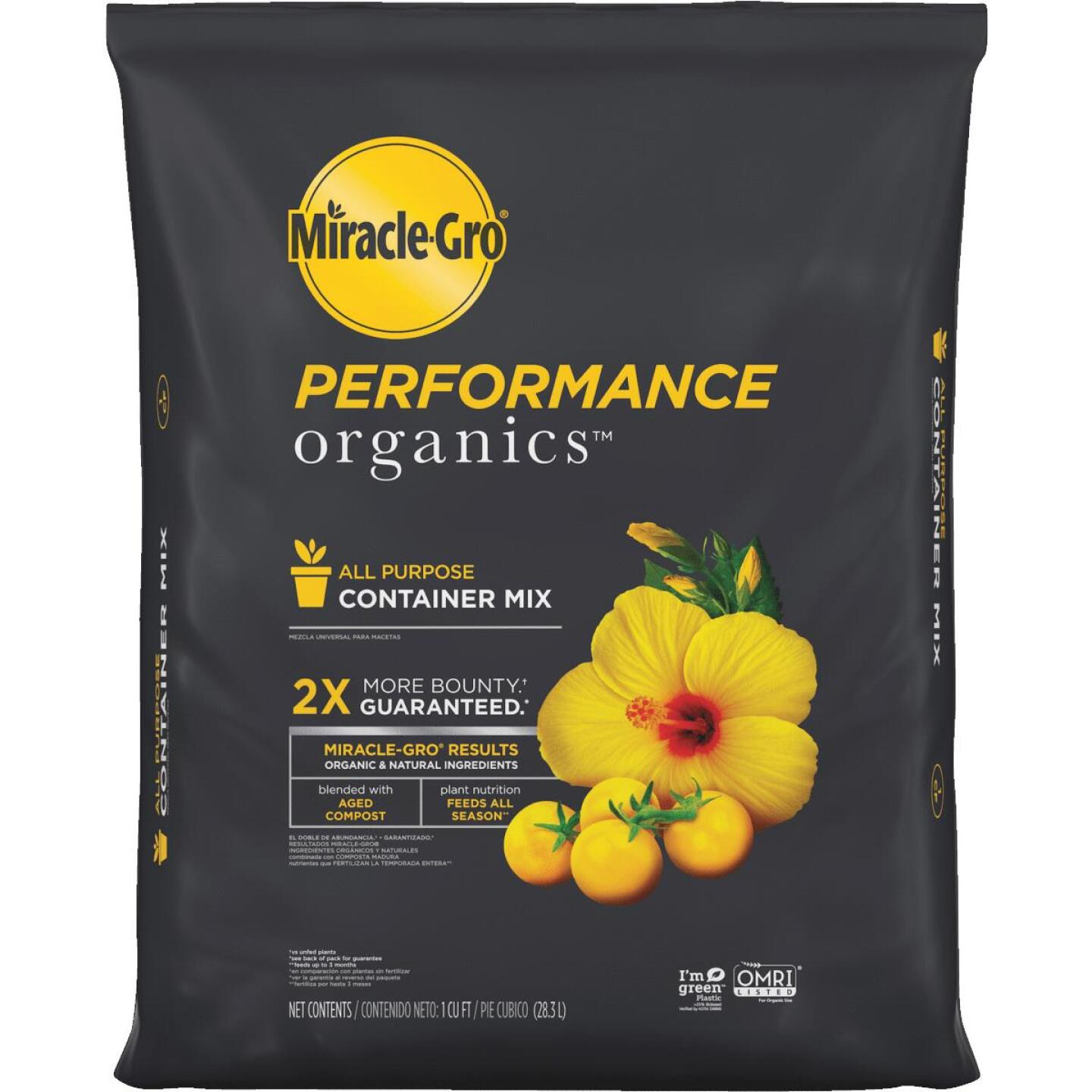 Miracle-Gro Performance Organics 1 Cu. Ft. All Purpose Container Mix (California Only) Image 1