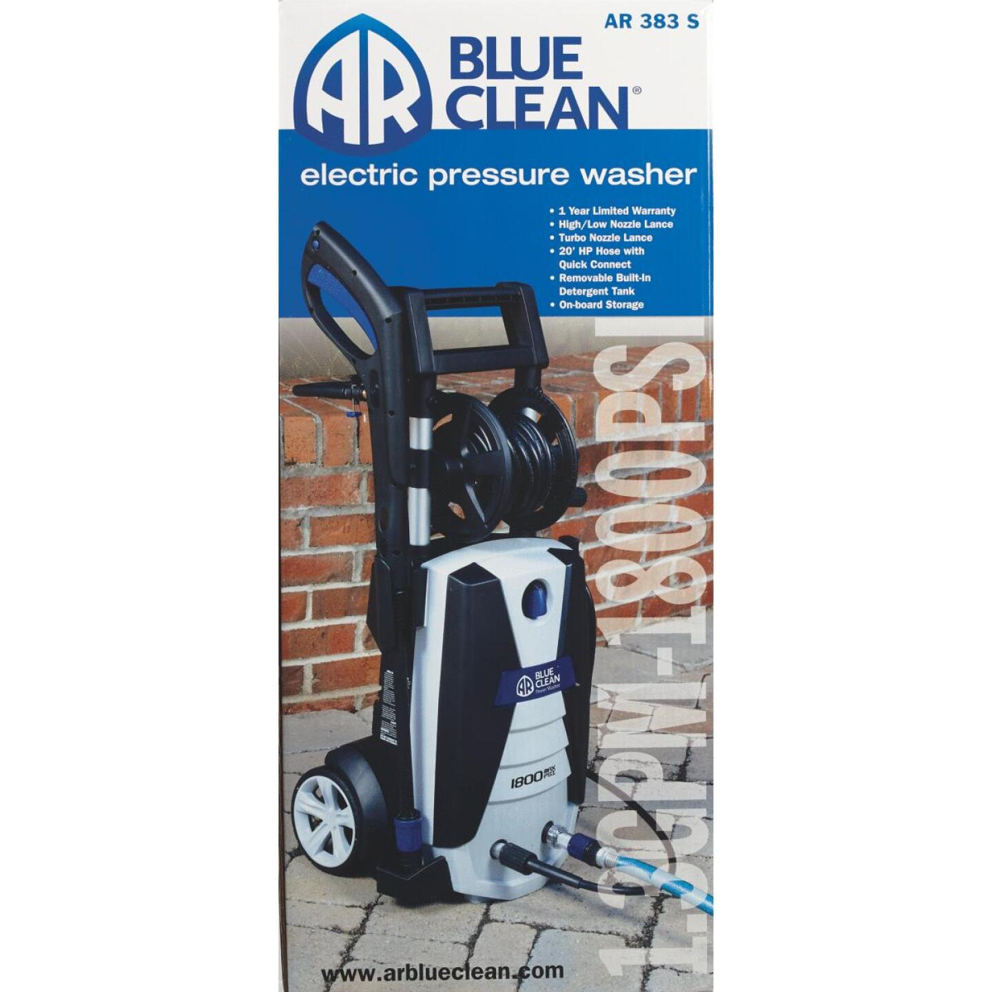 AR Blue Clean 1800 psi 1.3 GPM Cold Water Electric Pressure Washer Image 2