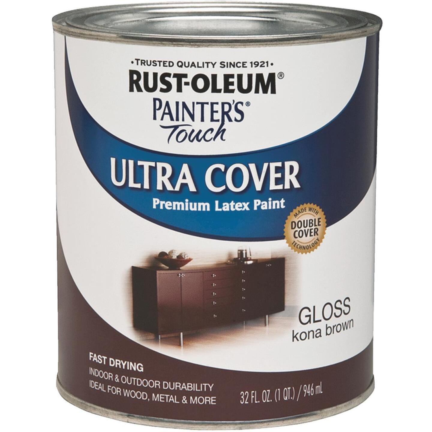 Rust-Oleum Painter's Touch 2X Ultra Cover Premium Latex Paint, Kona Brown, 1 Qt. Image 1