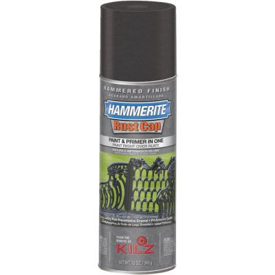 Hammerite Rust High Gloss Black 12 Oz. Hammered Finish Spray Paint