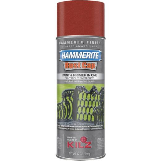 Hammerite Rust High Gloss Red  12 Oz. Hammered Finish Spray Paint