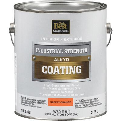 Do it Best Alkyd Industrial Coating, Safety Orange, 1 Gal.