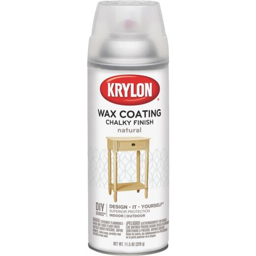 Krylon CHALKY FINISH 11.5 Oz. Subtle Wax Coating Spray Paint, Natural