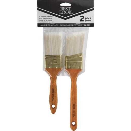 Best Look General Purpose Polyester Paint Brush Set (2-Piece)