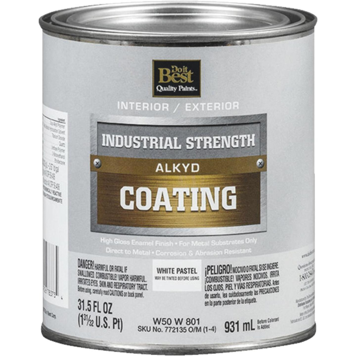 Do it Best Pastel Base Alkyd Industrial Coating, White, 1 Qt. Image 1