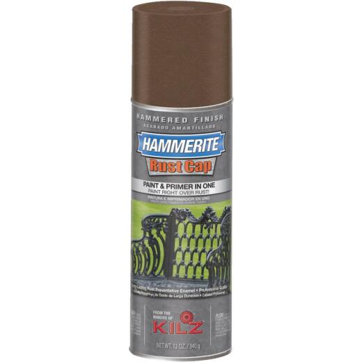 Hammerite Rust High Gloss Brown  12 Oz. Hammered Finish Spray Paint