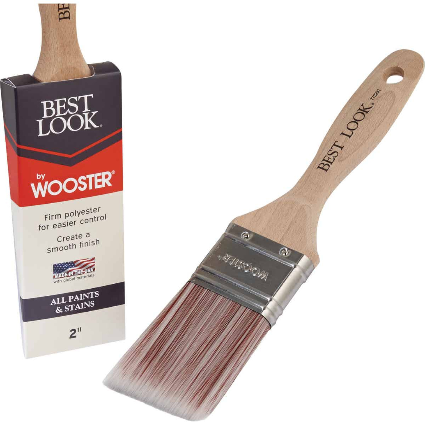 Best Look By Wooster 2 In. Flat Paint Brush Image 1