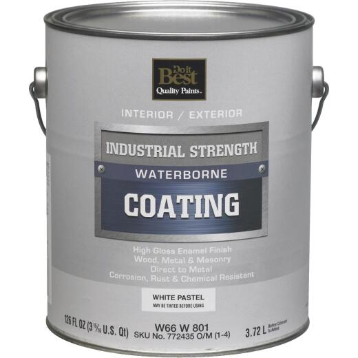 Do it Best Pastel Base Waterborne Industrial Enamel, White, 1 Gal.