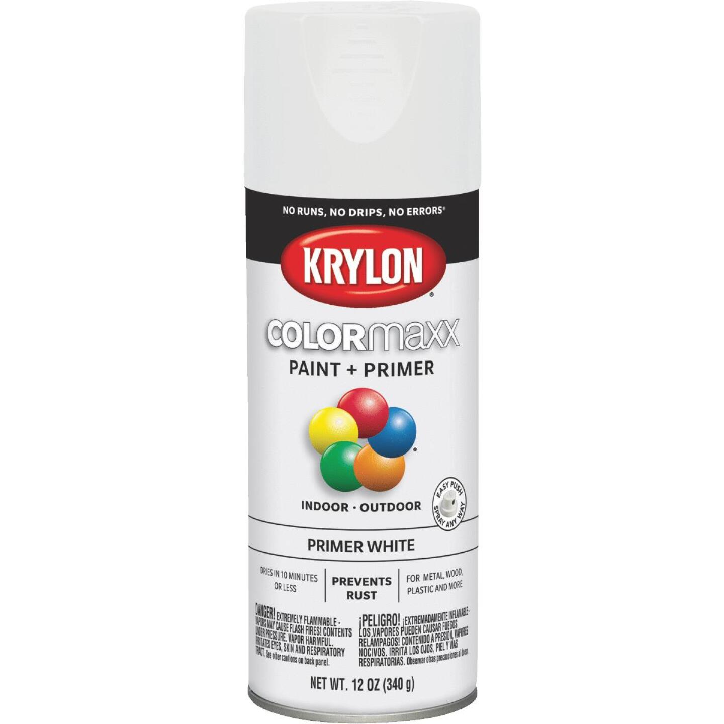 Krylon ColorMaxx White 12 Oz. All-Purpose Spray Paint Primer Image 1