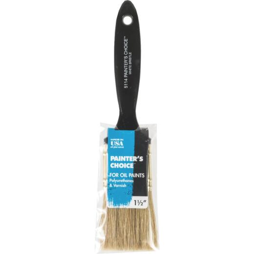 Wooster Painter's Choice 1-1/2 In. White China Bristle Flat Paint Brush