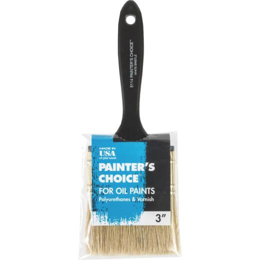 Wooster Painter's Choice 3 In. White China Bristle Flat Paint Brush