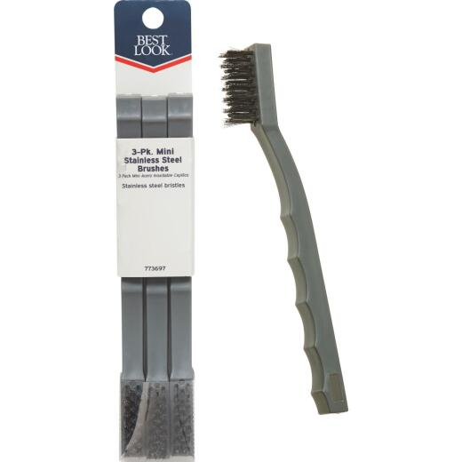 Best Look Stainless Steel Bristle Mini Brush (3-Pack)