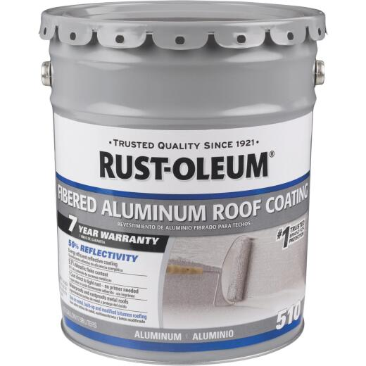 Rust-Oleum 510 5 Gal. 7-Year Fibered Aluminum Roof Coating