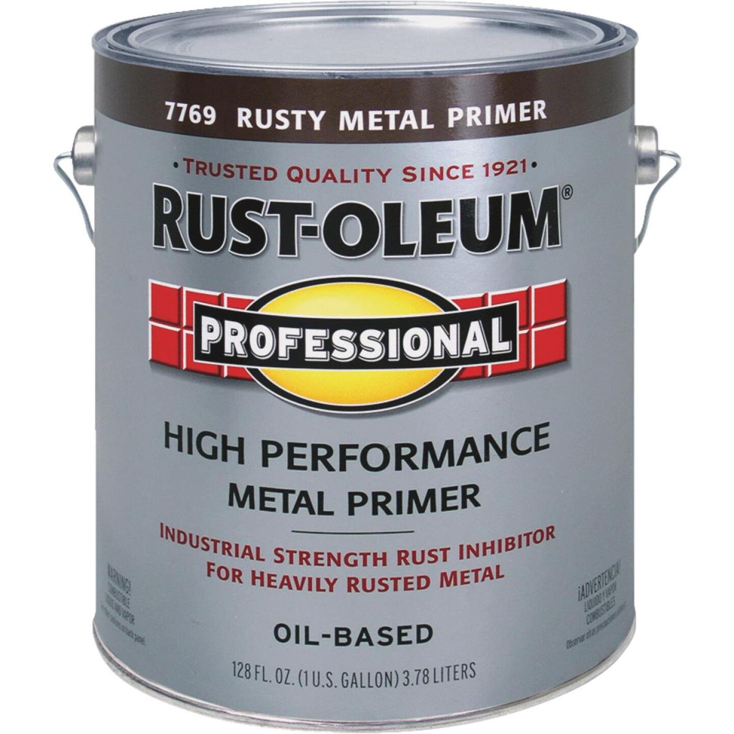Rust-Oleum Professional High Performance Rusty Metal Primer, Red/Brown, 1 Gal. Image 1