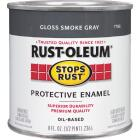 Rust-Oleum Stops Rust Oil Based Gloss Protective Rust Control Enamel, Smoke Gray, 1/2 Pt. Image 1