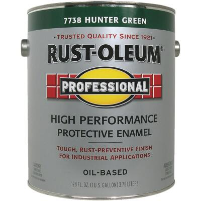 Rust-Oleum Professional Oil Based Gloss Protective Rust Control Enamel, Hunter Green, 1 Gal.
