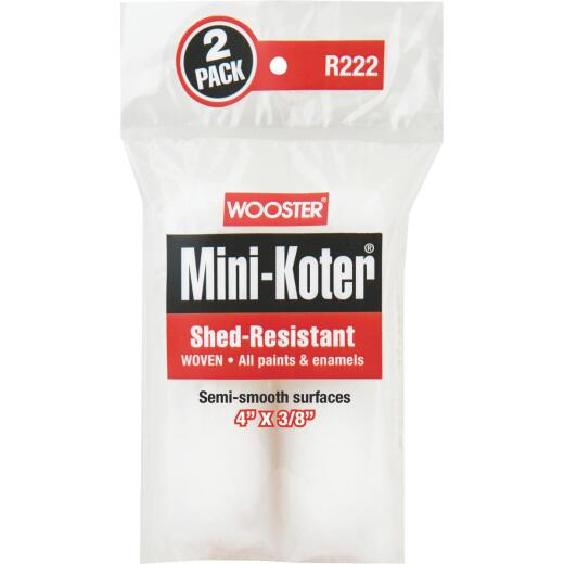 Wooster Mini-Koter 4 In. x 3/8 In. Shed Resistant Roller Cover (2 Pack)