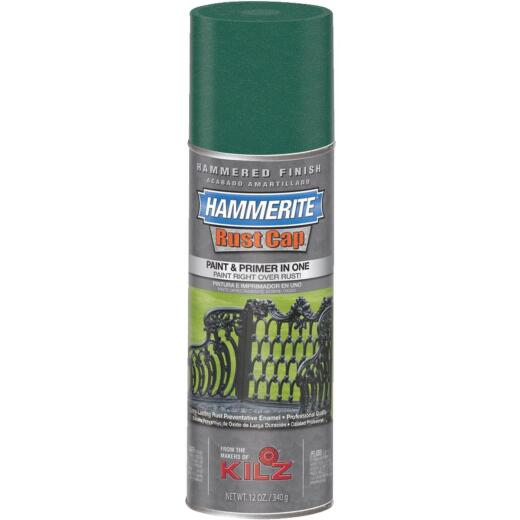 Hammerite Rust High Gloss Deep Green  12 Oz. Hammered Finish Spray Paint