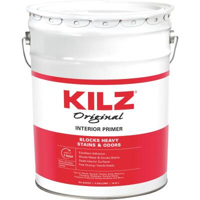Kilz Original Oil-Based Interior Primer Sealer Stainblocker, White, 5 Gal.