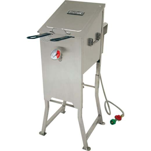 Bayou Classic 4 Gal. Stainless Steel Outdoor Fryer with Stand