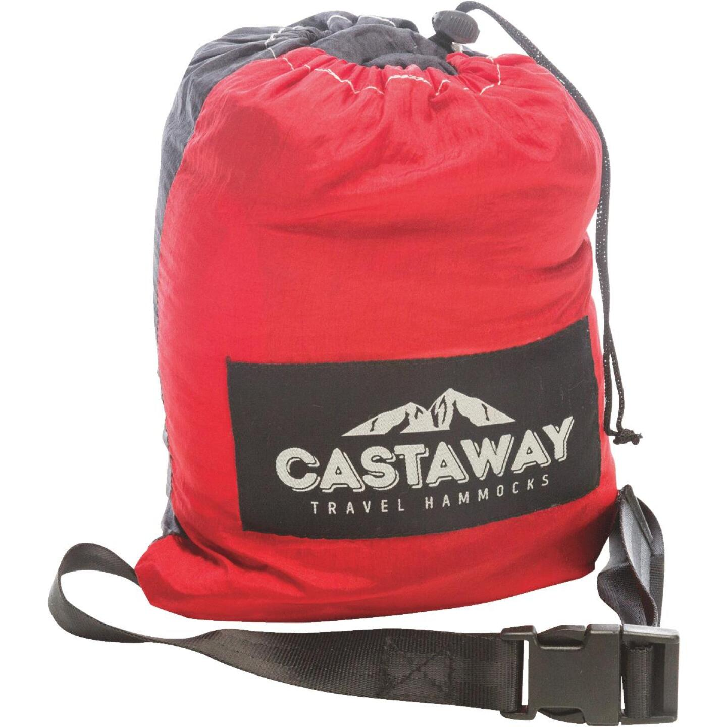 Castaway All-In-One Nylon Red Travel Hammock Image 2