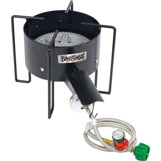 Bayou Classic 210,000 BTU Banjo Propane Gas Single Burner Cast Iron Outdoor Cooker