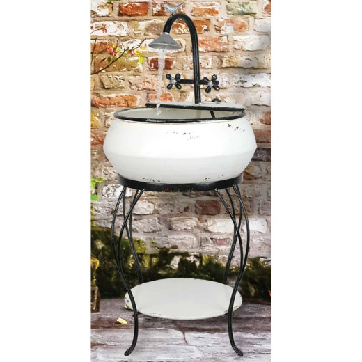 Alpine 16 In. W. x 32 In. H. x 16 In. L. Iron Vintage Sink Fountain