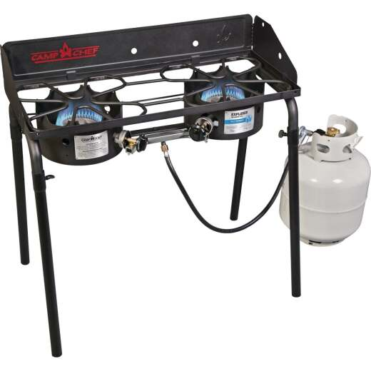 Camp Chef Explorer 2-Burner 60,000 BTU LP Gas Outdoor Cooking Stove