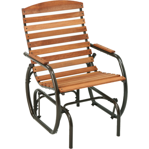 Jack Post Country Garden Taupe Hi-Back Glider Chair