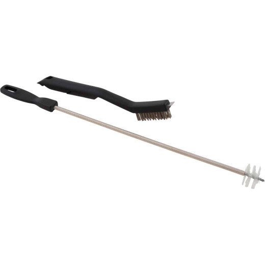 GrillPro 10-1/2 In. Resin Handle Venturi Tube Cleaning Brush & Maintenance Set