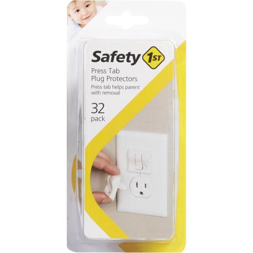 Safety 1st Press Tab White Plug Protectors (32-Pack)
