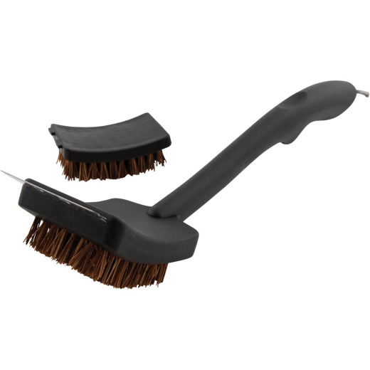 GrillPro 17 In. Palmyra Grill Brush with Replacement Head