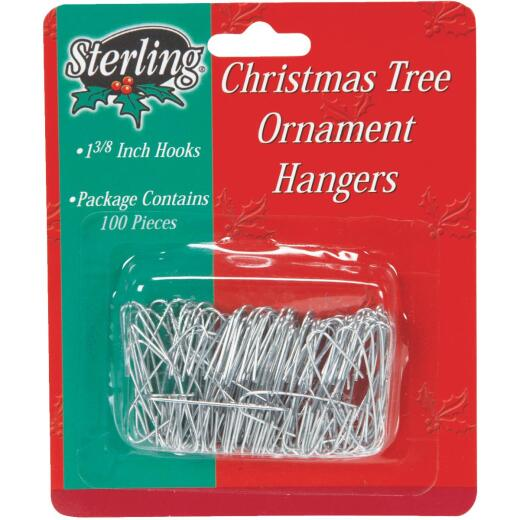Sterling 1-3/8 In. Silver Christmas Ornament Hooks